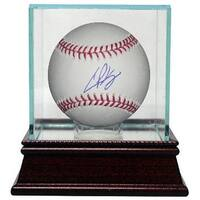 Casey Kelly signed Official Major League Baseball w Glass Case MLB Hologram Atlanta Braves