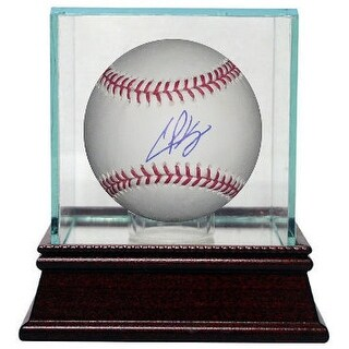 Casey Kelly signed Official Major League Baseball w/ Glass Case- MLB Hologram (Atlanta Braves)