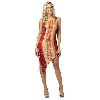 Womens Sexy Bacon Dress Food Costume sz 4-10 - standard size (4-10)