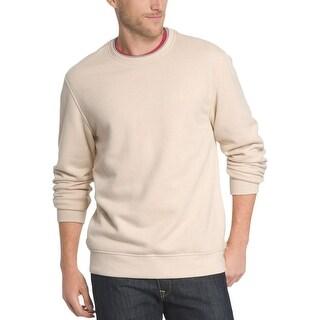 Izod Mens Crewneck Sweater Monogram Ribbed Trim