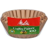 Melitta 8-12 Cup Basket Coffee Filters, Natural Brown, 100 Count