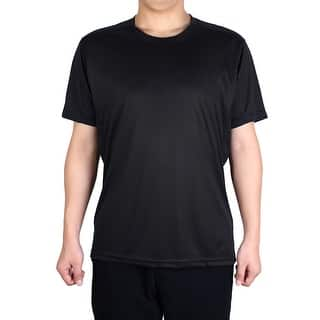 Men Polyester Short Sleeve Clothes Casual Wear Tee Running Sport T-shirt Black L|https://ak1.ostkcdn.com/images/products/is/images/direct/23550cd026a4689cc017b802d2f56dc8d787bd9f/Men-Polyester-Short-Sleeve-Clothes-Casual-Wear-Tee-Running-Sport-T-shirt-Black-L.jpg?impolicy=medium