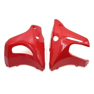 Universal Red Plastic Right Left Side Fairings Cowling Cowl For Motorcycle