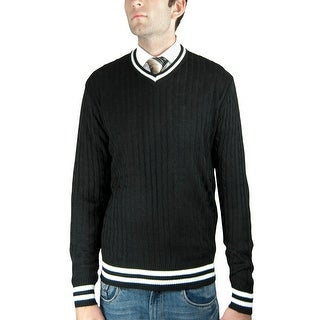 Men's Cable V-Neck Sweater (SW-028)