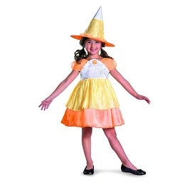 Candy Corn Witch Child's Costume Size S (4-6x)