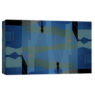"PTM Images 9-102275  PTM Canvas Collection 8"" x 10"" - ""Folded Architecture 23"" Giclee Abstract Art Print on Canvas"