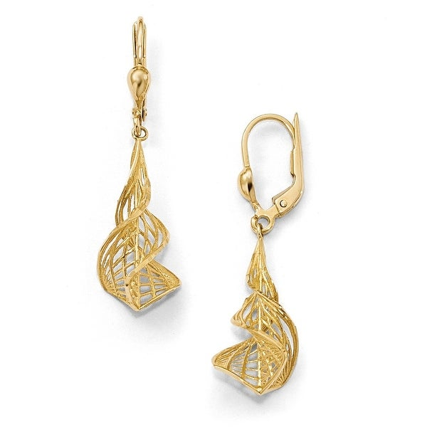 14k Diamond Cut Gold Earrings