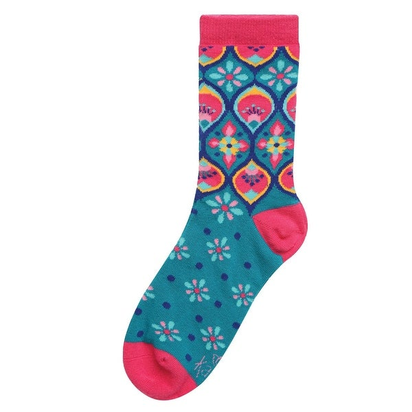 Karma Gifts Women's Casual Crew Socks - Exotic Print Lightweight Novelty Footwear - One size