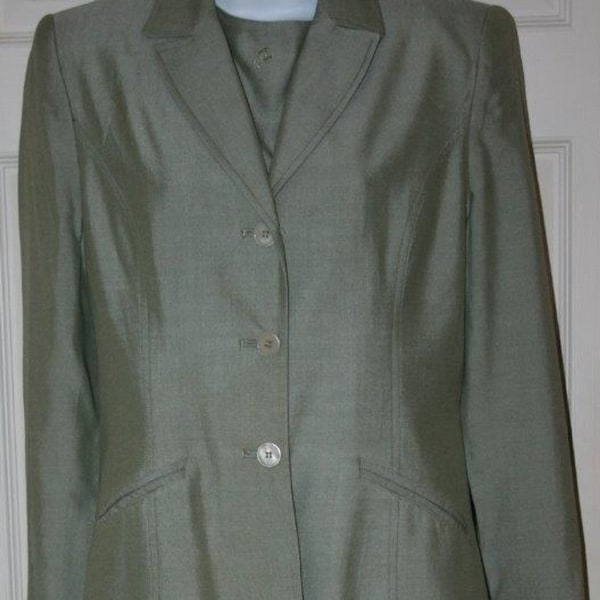 Shop Lord Taylor 3 Pc Green Sz 6 Jacket Suit Top C 36 Skirt W 26