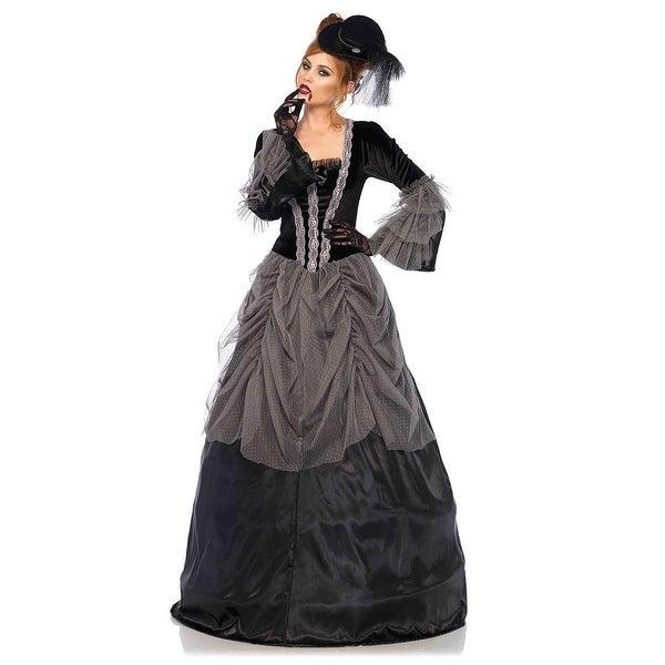 c7e496ca32 Grey Lady Victorian Ballgown Costume, Grey Ballgown Costume - Black/Grey