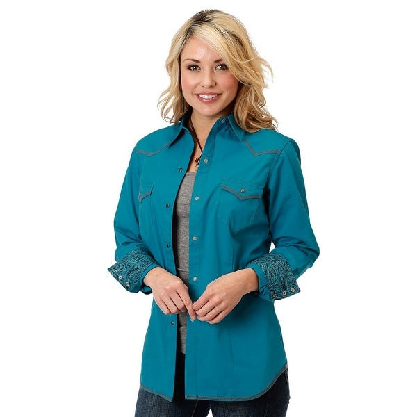 e8f841be4 Shop Roper Western Shirt Womens L/S Deep Back Yoke - Free Shipping On  Orders Over $45 - Overstock - 19471074