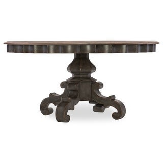 """Hooker Furniture 1610-75201-GRY  Arabella 60"""" Round Hardwood and Oak Dining Table - Painted Charcoal / Oak"""