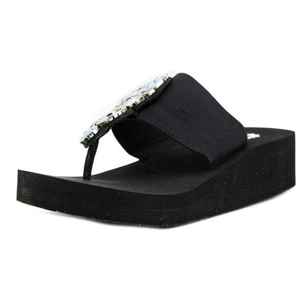 bca00eb6b5d Yellow Box Women  x27 s Bowee Embellished Comfort Wedge Flip Flop Sandal -  7.5