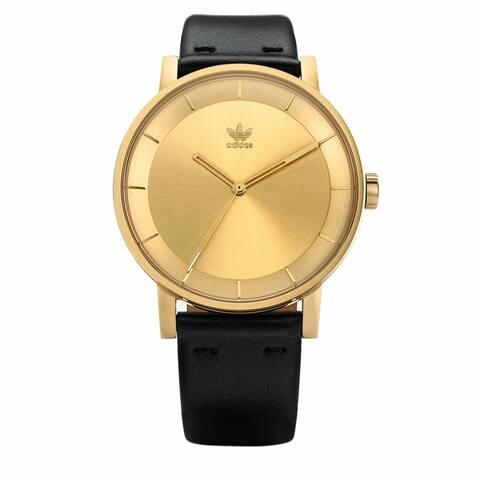 Adidas Men's District L1 Z08 510-00 Gold Leather Quartz Fashion Watch