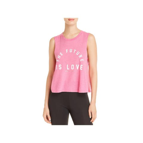 Spiritual Gangster Womens Future Is Love Crop Top Yoga Fitness - Pink