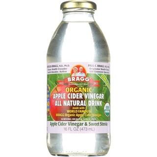 Bragg Apple Cider Vinegar & Sweet Stevia Drink Apple Cider Vinegar, 16 Oz (Pack Of 12)