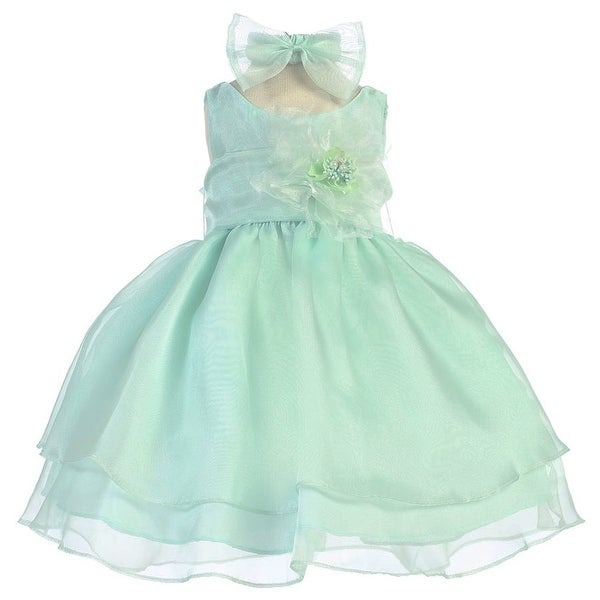 Baby Girls Mint Layered Organza Flower Girl Dress 6-24M