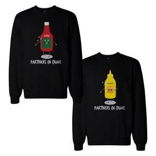 Ketchup And Mustard Couple Sweatshirts Cute Matching Sweat Shirts