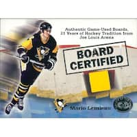 Signed Lemieux Mario Pittsburgh Penguins Mario Lemieux 2001 Fleer Skybox Board Certified Yellow Joe