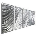 Statements2000 Silver Large Metal Wall Art Sculpture Panels by Jon Allen - Hypnotic Sands 5P - Thumbnail 0