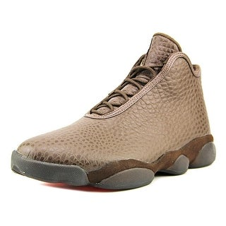 Jordan Horizon Premium Men Round Toe Leather Brown Sneakers