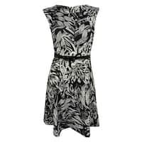 INC International Concepts Women's Sleeveless Dress - Feather Blossom - PS