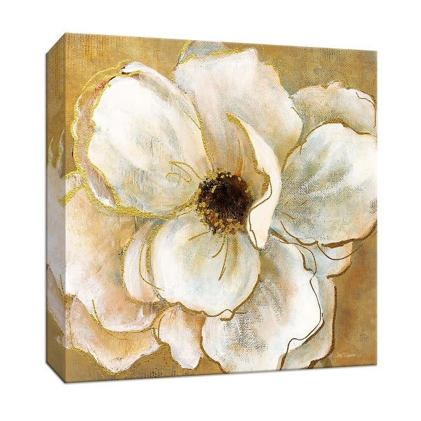 """PTM Images 9-147282 PTM Canvas Collection 12"""" x 12"""" - """"Golden Splendor II"""" Giclee Flowers Art Print on Canvas"""