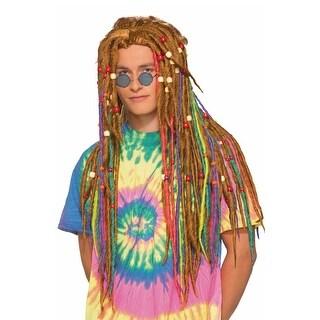 Forum Novelties Hippie Dreads Adult Wig (Rainbow) - Multi