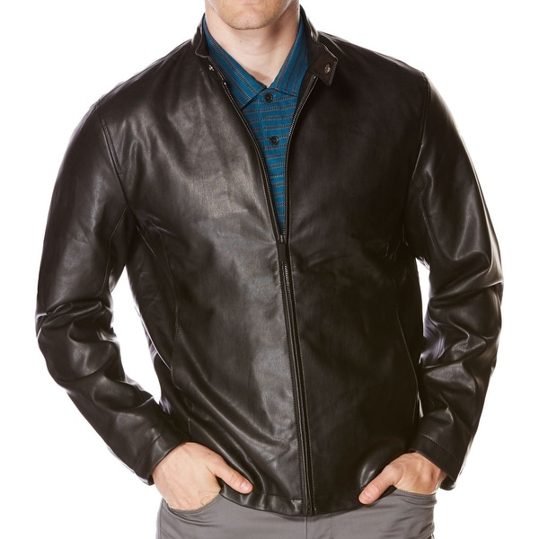 b6e5e4596 Shop Perry Ellis NEW Brown Mens Size Large L Faux Leather Motorcycle ...