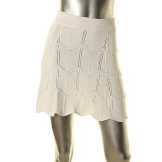 Lucy Paris Womens Textured Mini Flare Skirt
