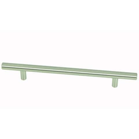 Stone Mill Hardware - Satin Nickel Steel Bar Cabinet Pulls (Pack of 5)