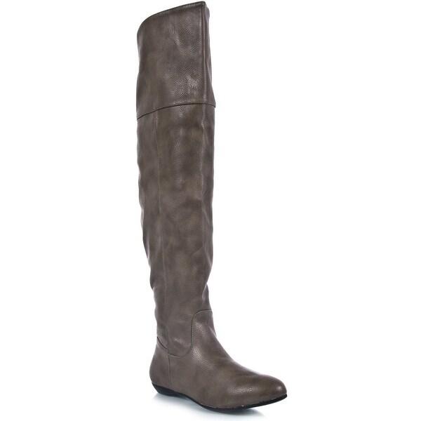 Bamboo Women Zoria-48 Boots - Black - 5.5 b(m) us