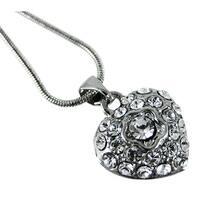 Cool Crystal Rhinestone Heart Necklace Pendant