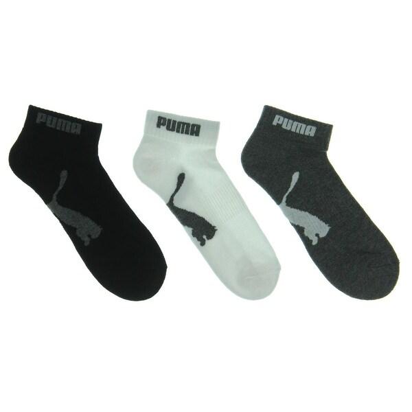 Puma Mens Quarter Socks 6PK Terry Cloth - 10-13
