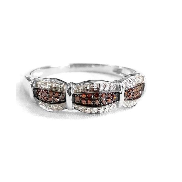 Brand New Round Brilliant Real Cognac Diamond Ring