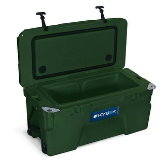 Kysek The Ultimate Ice Chest with Wheels 50 Liter Hunter Green Cooler
