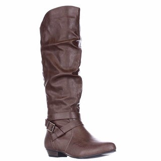 Fergalicious Lara Tall Slouch Boots - Cognac