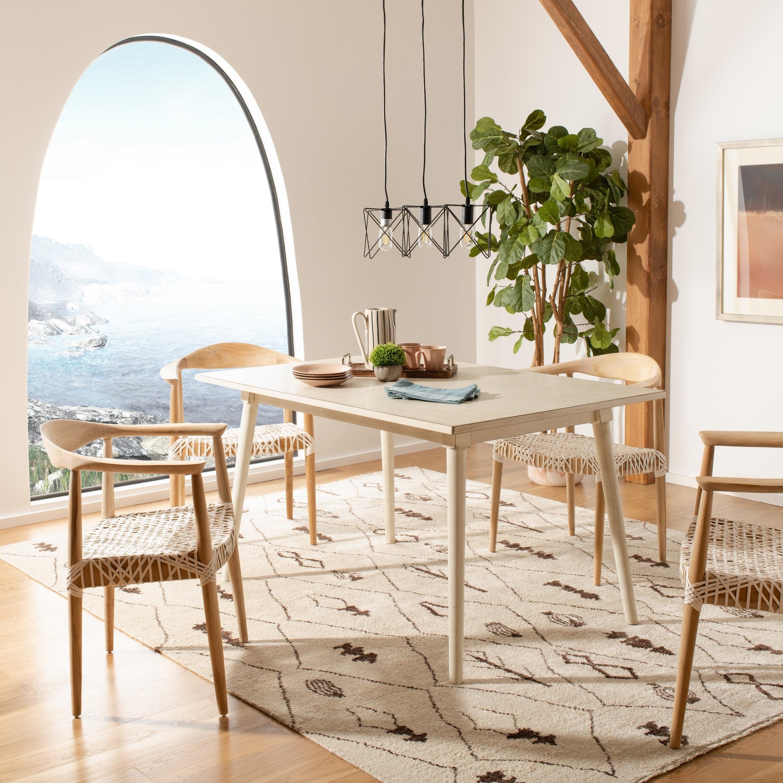 "Safavieh Tia Rectangle Dining Table - 55"" x 36"" x 30.3"" Anti"