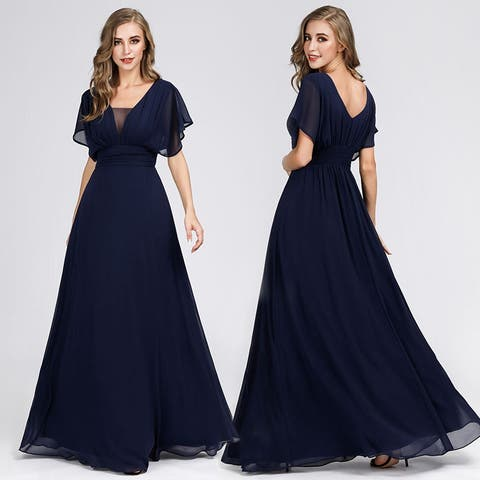 Ever-Pretty Womens Chiffon Long Formal Evening Party Dresses for Women 07851