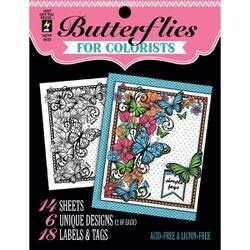 """Butterflies - Hot Off The Press Coloring Book 5""""X6"""""""