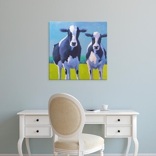 Easy Art Prints Carol Young's 'Cow Pals II' Premium Canvas Art