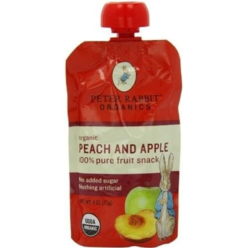 Peter Rabbit Organics - Peach & Apple Puree ( 10 - 4 OZ)