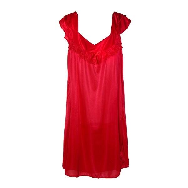CTM® Women's Ruffle Front Nightgown