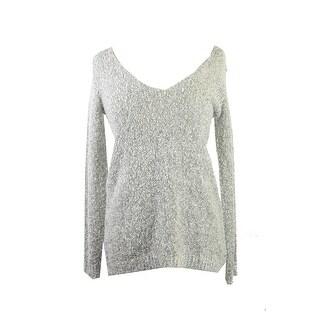 Studio M Ecru Marled Boucle V-Neck Sweater XS