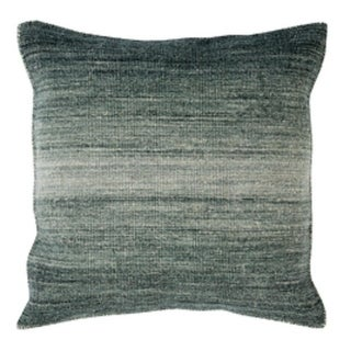 """18"""" Ombre Ambiance Black-Gray, Softened Green and Silver Sand Decorative Throw Pillow"""