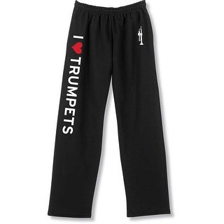 Unisex Adult I Heart Instruments Unisex Sweatpants - I Love Trumpets
