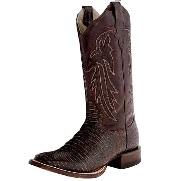 Roper Western Boots Womens Teju Exotic Brown