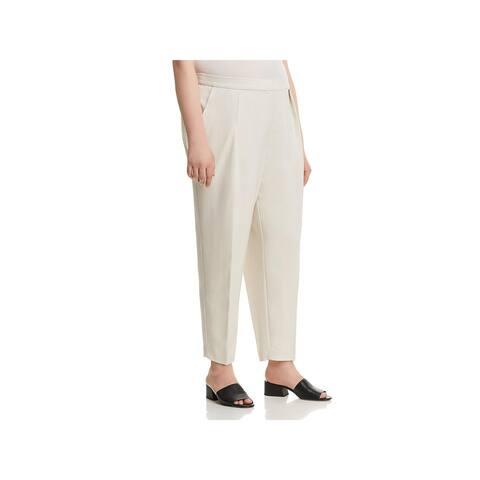 Eileen Fisher Womens Plus Ankle Pants Tencel Office Wear - 18W