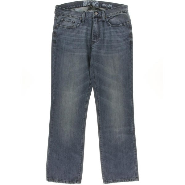 Kenneth Cole Reaction Mens Straight Leg Jeans Low-Rise Indigo - 36/32
