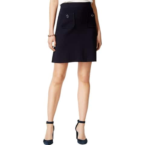 Tommy Hilfiger Womens Pull On A-Line Skirt